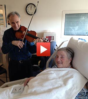 Michael playing at Staten Island Hospital for Gail Dec 25 2014