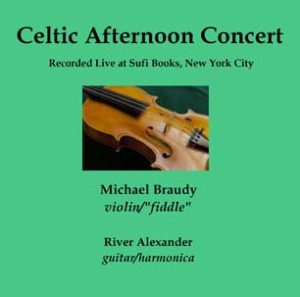 CD Celtic Afternoon Concert outside liner SCREEN displays